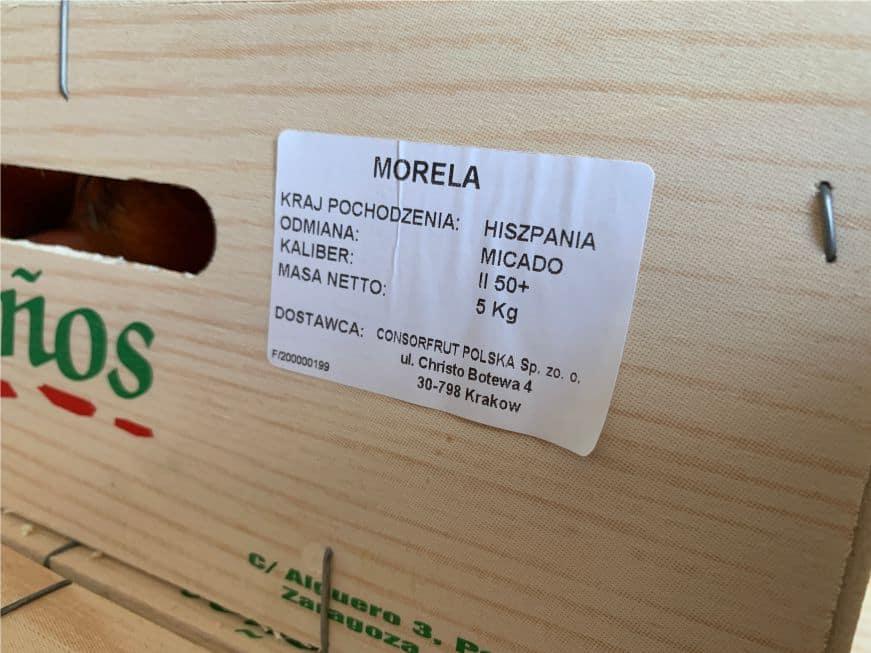 etykieta z krajem pochodzenia produktu